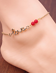 cheap -Women's Anklet Monogram Monograms Love Ladies Vintage Party Work Casual Anklet Jewelry Screen Color For Daily