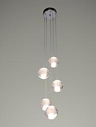 """Недорогие -UMEI™ 5-Light 10(4"""") Хрусталь / LED Подвесные лампы Металл кластер Хром Современный современный 90-240 Вольт"""