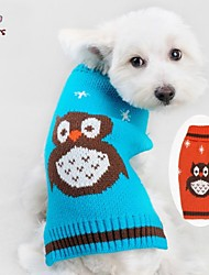 cheap -Cat Dog Sweater Dog Clothes Cute Casual/Daily Cartoon Orange Blue Costume For Pets