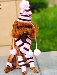 cheap -Cat Dog Bandanas & Hats Winter Dog Clothes Pink Costume Cosplay Wedding XXS XS M