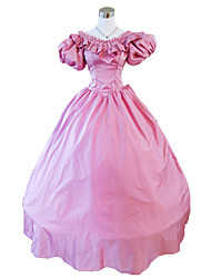 cheap -Victorian Medieval 18th Century Dress Party Costume Masquerade Women's Lace Satin Costume Vintage Cosplay Party Prom Short Sleeve Long Length Ball Gown Plus Size Customized