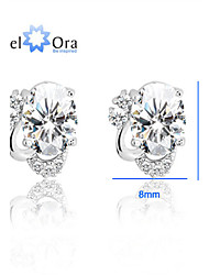 cheap -Stud Earrings Vintage Party Work Casual Sterling Silver Earrings Jewelry Screen Color For