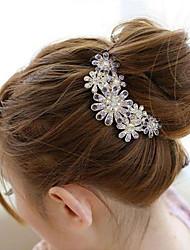 cheap -south korea high grade ornaments in combs hair clasp diamond pearl twist purple flower
