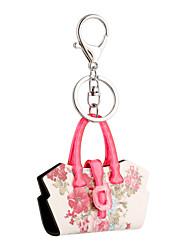 Недорогие -2016 г. розовые акриловые цветы ключевая цепь цветок мешок ювелирных изделий сумки брелок автомобиля женщин брелок для ключа кольцо
