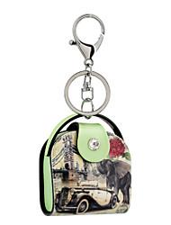 cheap -2016 Acrylic Key Chain High-grade Oil Landscape Painting Jewelry Handbag Car Keychain Women Holder Key Ring Gift