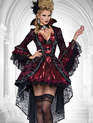 cheap -Vampire Cosplay Costume Women's Halloween Carnival Festival / Holiday Chiffon Lace Women's Carnival Costumes / Corsets