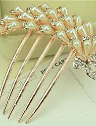 cheap -south korea high grade ornaments in combs hair clasp diamond pearl twist the phoenix