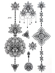 cheap -blacklace-henna-indian-body-temporary-sexy-tattoos-sticker-for-women-teens-girls-5-patterns-in-1-sheet-j019