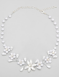 cheap -White Imitation Pearl Rhinestone Alloy White Necklace Jewelry For Wedding Party Engagement
