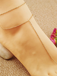 cheap -Women's Anklet Ladies Vintage Party Work Casual Anklet Jewelry Gold / Silver For Daily