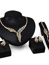 cheap -Women's Jewelry Set Statement Ladies Elegant Earrings Jewelry Gold For Wedding Party Masquerade Engagement Party Prom Promise 4pcs / Rings / Necklace