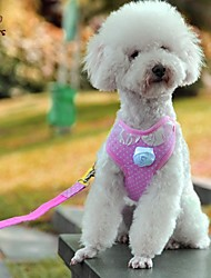 cheap -FUN OF PETS® Lovely Pink Lace Collar Harness with Leash for Pets Dogs(Assorted Sizes)