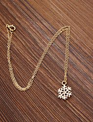 cheap -Women's Pendant Necklace Snowflake Ladies Enamel Alloy Necklace Jewelry For Wedding Party Daily Casual Sports