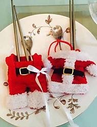 Недорогие -Набор из 2 Рождество Санта Рождество держатель костюм столовые приборы обеденный стол мешок декора