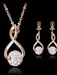 cheap -Party Cubic Zirconia Earrings Jewelry Gold For Party Birthday Engagement Gift / Necklace