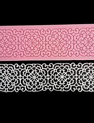 Недорогие -кружева цветок границы силиконовые формы торт деко помадка выпекать инструменты