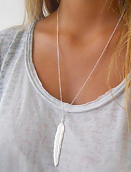 cheap -Women's Layered Necklace faceter Feather Fashion Alloy Gold Silver Necklace Jewelry For Special Occasion Birthday Gift