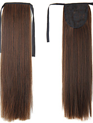 cheap -Clip In Ponytails Synthetic Hair Hair Piece Hair Extension Straight