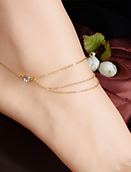 cheap -Women's Anklet Ladies Tassel Vintage Party Work Anklet Jewelry Screen Color For Daily