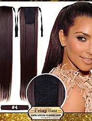 Недорогие -22 дюйм # 8 # 12 # 16 # 27 # 33 Прямой силуэт Конскиехвостики синтетика Волосы Наращивание волос