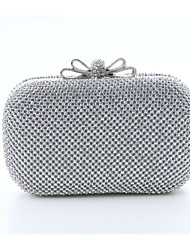 cheap -Women's Crystal / Rhinestone Polyester / Satin Evening Bag Wedding Bags Solid Colored Black / Gold / Silver