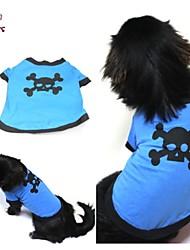 cheap -Cat Dog Shirt / T-Shirt Dog Clothes Cosplay Wedding Skulls Blue