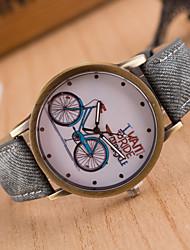 cheap -Men's Wrist Watch Quartz Leather Black / White / Blue Hot Sale / Analog Classic Vintage Casual Word Watch - Green Blue Pink