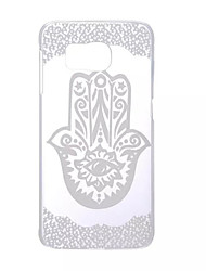 cheap -Case For Samsung Galaxy S6 edge / S6 / S5 Mini Transparent Back Cover Lace Printing PC