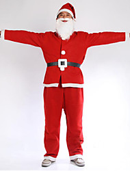 cheap -Adult Santa Claus Suit Christmas Costume Fancy Dress Up Mens Outfit, length 65cm, Sleeve 46CM,Pants Length 90CM