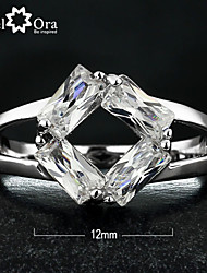 cheap -Women's Band Ring Cubic Zirconia Silver Cubic Zirconia Fashion Party Jewelry