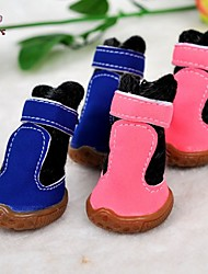 cheap -Cat Dog Boots / Shoes Cosplay Wedding Winter Dog Clothes 4 Pink Costume PU Leather 5 1 2 3 4