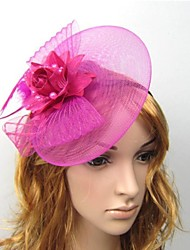cheap -Women's Headbands Fascinators For Wedding Party Lace Purple Red White