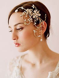 cheap -Hot Style Handmade Beaded Fringe Cuttlefish Combs The European And American High-end Bride Headdress