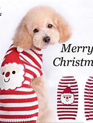 cheap -Cat / Dog Costume / Coat / Sweater Dog Clothes Stripe / Cartoon Mixed Material Costume For Pets Men's / Women's Cosplay / Halloween / Christmas