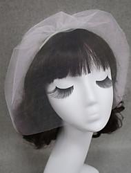 cheap -One-tier Cut Edge Wedding Veil Blusher Veils / Veils for Short Hair with Tulle / Birdcage