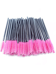cheap -50pcs Makeup Set disposable-eyelash Brush/mascara-wands applicator/Synthetic /color-pink