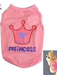 cheap -Cat Dog Shirt / T-Shirt Dog Clothes Cosplay Wedding Tiaras & Crowns Letter & Number Pink Costume For Pets