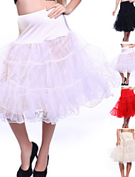 cheap -Wedding / Special Occasion / Party / Evening Slips Organza / Tulle Knee-Length A-Line Slip / Classic & Timeless with