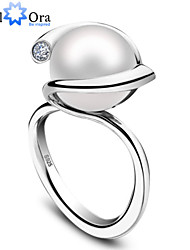 cheap -2015 High Quality Fashion Luxury Women Wedding Jewelry 925 Sterling Silver Natural Fresh Water Pearl Ring