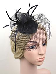 cheap -Women Fabric Hair Clip , Cute / Party Veils  Headpiece
