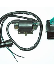 cheap -Universal Ignition Coil + 5 Pin AC CDI Box For Honda Dirt Pit Bike 110CC
