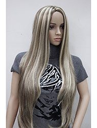 cheap -Synthetic Wig Straight Straight Wig Blonde Very Long Synthetic Hair Women's Highlighted / Balayage Hair Middle Part Blonde StrongBeauty