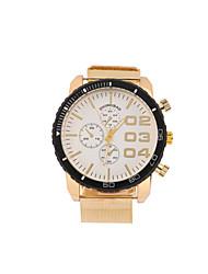 cheap -Men's Fashion Watch Quartz Stainless Steel Gold Analog White Black