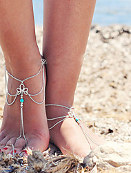 cheap -Women's Anklet feet jewelry Layered Tassel Tassel Vintage Party Work Casual Anklet Jewelry Screen Color For Daily