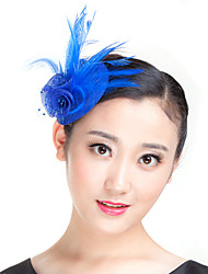 cheap -Flax / Feather Fascinators with 1 Wedding / Special Occasion / Casual Headpiece