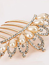cheap -Side Combs Hair Accessories Pearl / Rhinestones Wigs Accessories Women's 1pcs pcs 11-20cm cm Special Occasion / Daily Classic / Hearts Lovely / Golden