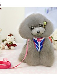 cheap -Cat Dog Harness Adjustable / Retractable Cosplay Textile Nylon Red Blue