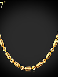 cheap -Chains Vintage Party Work Casual Brass Platinum Plated Gold Plated Gold Silver Necklace Jewelry For
