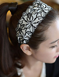 cheap -Hot Style Embroidery Lace Wide Hair Hoop Hair Band Han Edition Fashion Hair Hoop Roses