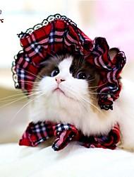 Недорогие -Коты / Собаки Банданы и шляпы Красный / Черный Одежда для собак Весна/осень Свадьба / Косплей